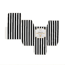 Monogram Black, Gold and White Art Deco Wedding Favor Box