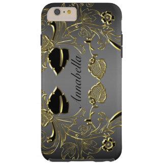 Monogram Black & Gold iPhone 6 Tough Case Tough iPhone 6 Plus Case