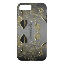 Monogram Black & Gold iPhone 7 Tough Case