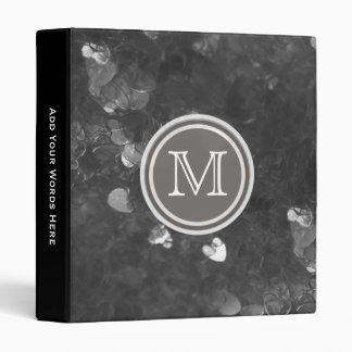 Monogram: Black Heart Confetti Binder