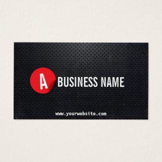 Monogram Black Metal Red Label Mechanic Business Card