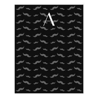 "Monogram black mustache pattern 8.5"" x 11"" flyer"