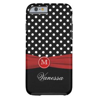 Monogram Black Red White Polka Dot iPhone 6 case iPhone 6 Case