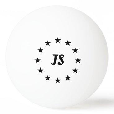 Monogram Black Stars Ping Pong Ball