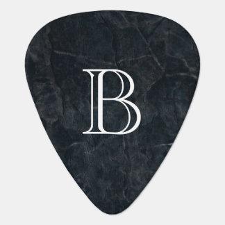 Monogram Black Stone Abstract Grunge Texture Pick