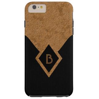 Monogram Black Tan Classy Tough iPhone 6 Plus Case