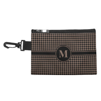 Monogram Black/Taupe Brown Houndstooth Accessory Bag