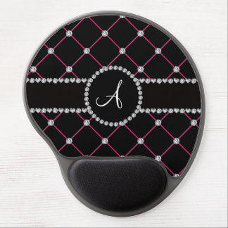Monogram black tuft diamonds gel mouse pad