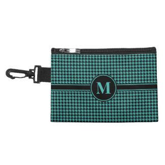 Monogram Black/Verdigris Green Blue Houndstooth Accessory Bags