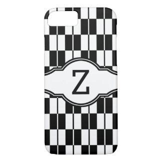 Monogram Black & White Checker Board iPhone 7 Case