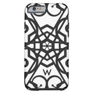 Monogram Black & white symbols iPhone 6 cover