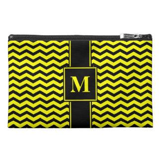 Monogram Black/Yellow Chevron Travel Accessories Bags