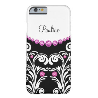 Monogram Bling Style Barely There iPhone 6 Case