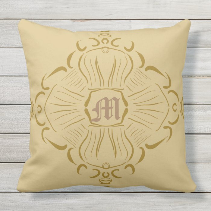How To Make A Monogram Throw Pillow : Monogram bliss throw pillow Zazzle