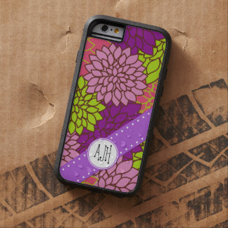 Monogram - Blooming Dahlia Flowers - Pink Purple Tough Xtreme iPhone 6 Case