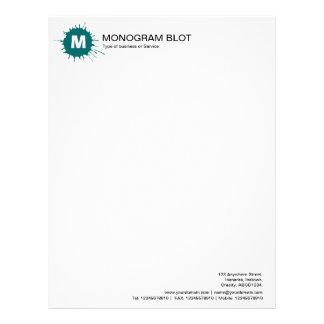 Monogram Blot - Moss Green Letterhead