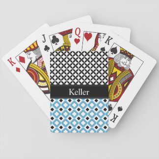 Monogram Blue and Black Playing Cards