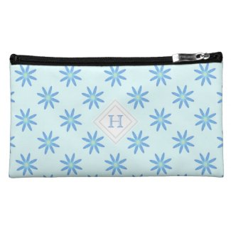 Monogram: Blue and Green Daisy Bagettes Bag Cosmetics Bags