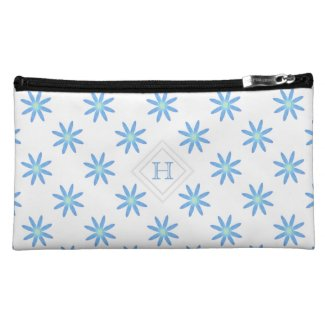 Monogram: Blue and Green Daisy Bagettes Bag Cosmetic Bags