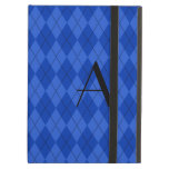Monogram blue argyle iPad covers