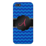 Monogram blue chevrons covers for iPhone 5