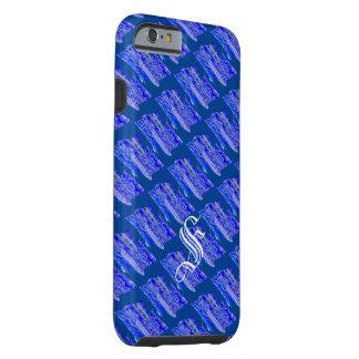 Monogram Blue Design iPhone 6 cover