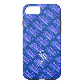 Monogram Blue Design iPhone 7 cover