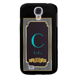 Monogram Blue Haute Couture iPhone3G/3GS Case Samsung Galaxy S4 Covers