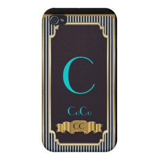 Monogram Blue Haute Couture iPhone 4 Speck Case iPhone 4 Cover