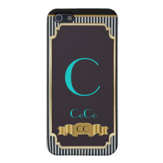 Monogram Blue Haute Couture iPhone 4 Speck Case Covers For iPhone 5