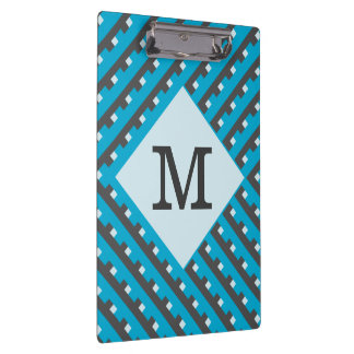 Monogram Blue Intersecting Lines Clipboards
