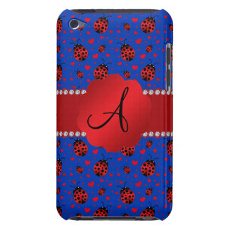Monogram blue ladybugs hearts iPod touch covers