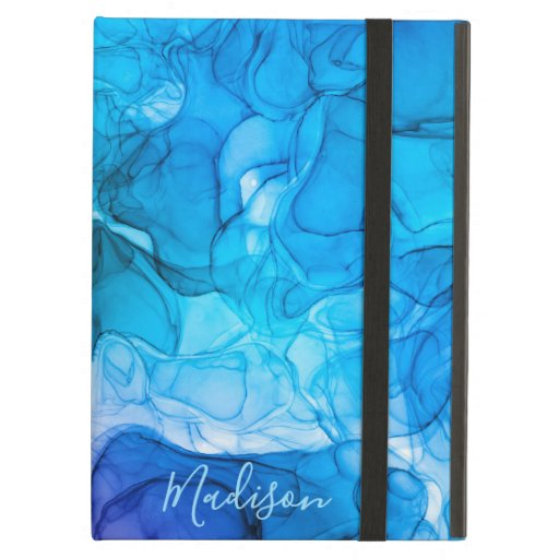 Monogram blue marbling dreams case for iPad air