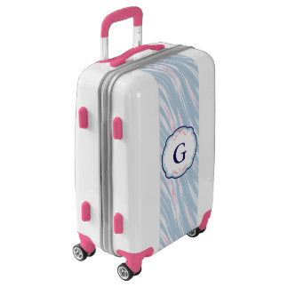 Monogram Blue Pink Medley and Frame Luggage