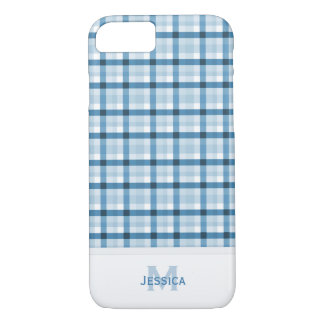 Monogram: Blue Plaid Case