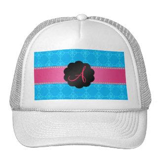 Monogram blue retro circles mesh hat
