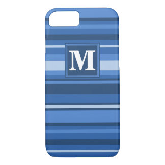 Monogram blue stripes iPhone 7 case