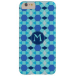 Monogram blue tiles 6/6s barely there iPhone 6 plus case