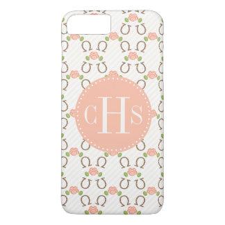 Monogram Blush Rose and Horseshoe iPhone 8 Plus/7 Plus Case