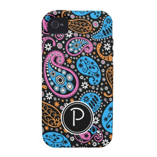 Monogram BOLD Paisley for Girls iPhone 4 Covers