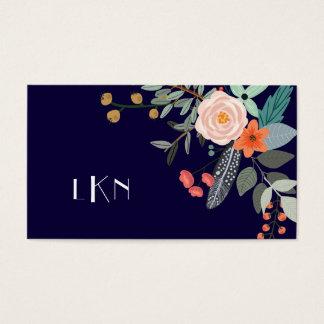 Monogram Botanical Business Card