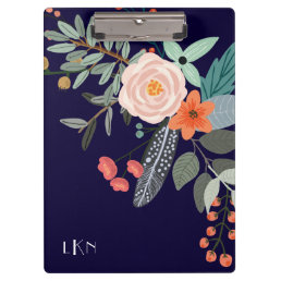 Monogram Botanical Clipboard
