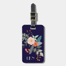 Monogram Botanical Luggage Tag