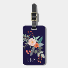 Monogram Botanical Luggage Tag at Zazzle