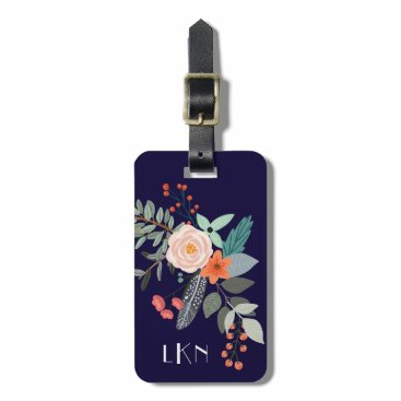 charmingink Monogram Botanical Luggage Tag