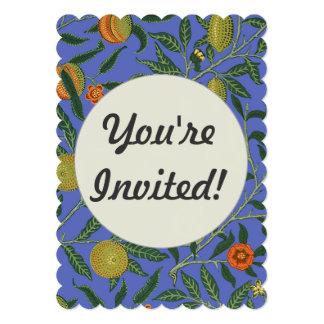 Monogram Botanical Pomegranate Pattern Wallpaper 5x7 Paper Invitation Card