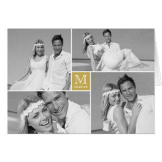 Monogram Box Wedding Thank You Photo Collage Card