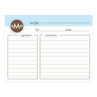 Monogram Bridal Shower Recipe Card Post Card