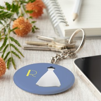Monogram Bridesmaid Keychain
