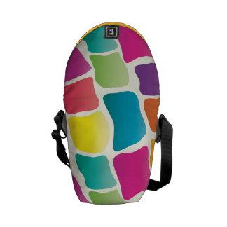 Monogram Bright Colorful Giraffe Pattern Commuter Bags
